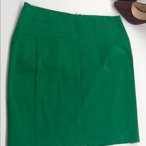 Bright green pencil skirt!